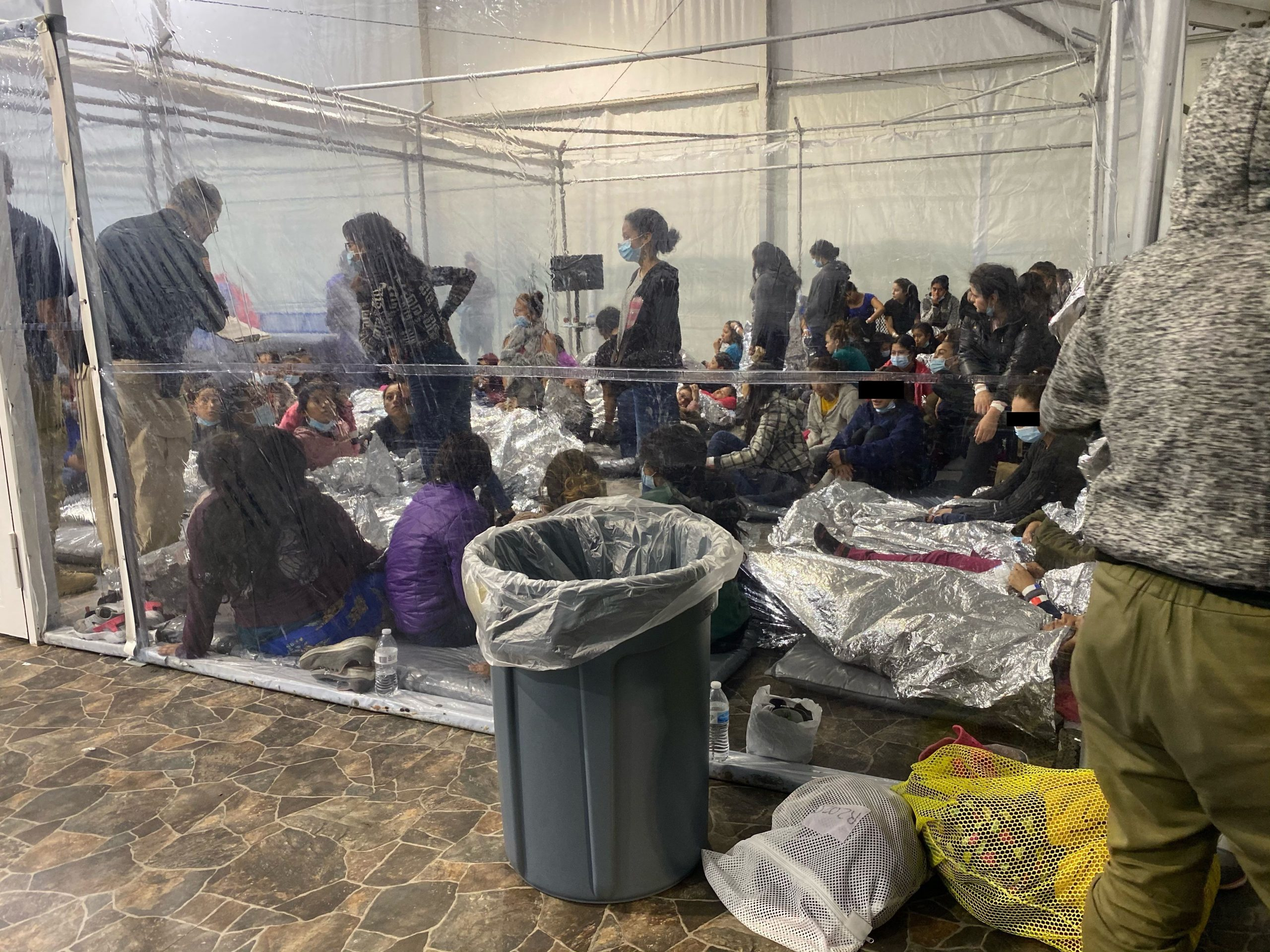 Saturday, March 20, 2021 / Sunday, March 21, 2021. Undocumented immigrants in a concentration camp in Donna, Texas; United States of America. President Joe Biden and vice president Kamala Harris have thousands of children in cages. Photo: Representative Henry Cuellar (Democrat Texas).