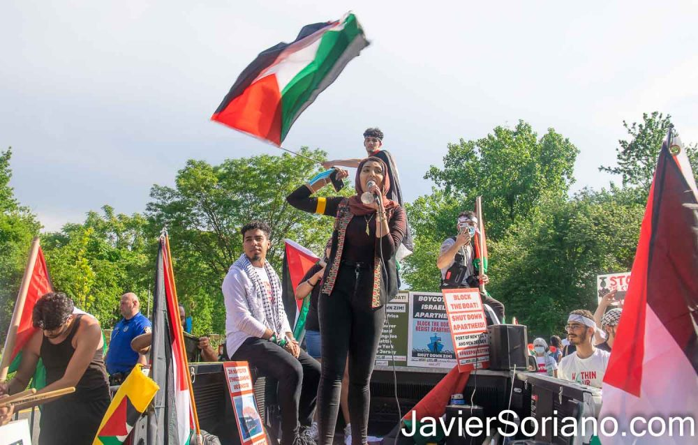 Wednesday, June 9, 2021. Staten Island, New York City – The organization Within Our Lifetime held a rally and a caravan of cars to defend Palestine.  Photo by Javier Soriano/www.JavierSoriano.com
