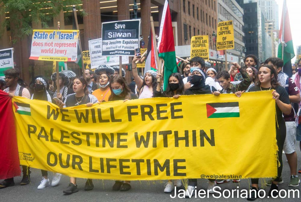 Friday, July 2, 2021. Manhattan, New York City – Rally and March to defend Silwan.  Photo by Javier Soriano/www.JavierSoriano.com