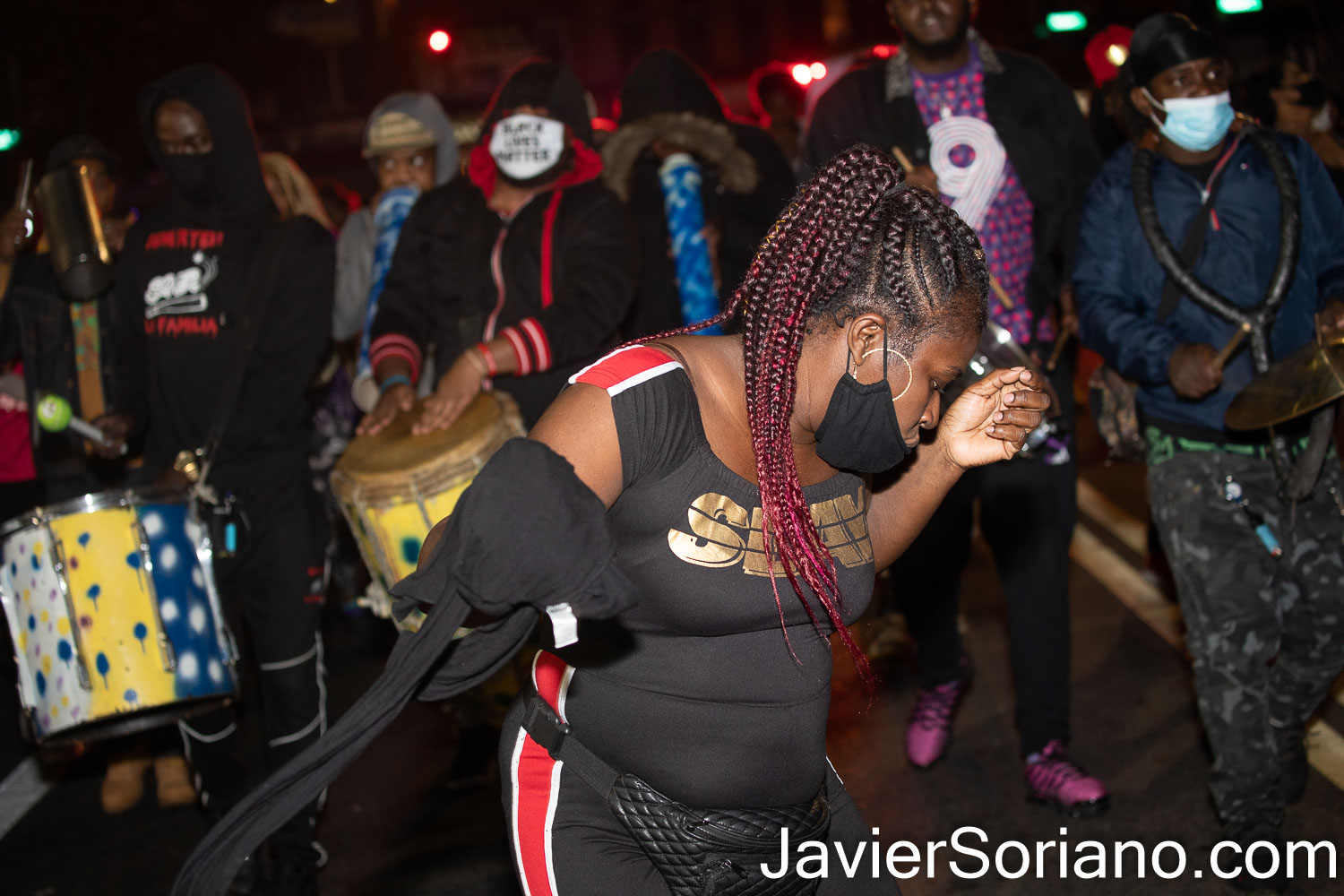 Saturday, November 7, 2020. Brooklyn, New York City - People from Haiti in Flatbush took to the streets to celebrate with music that Joe Biden was declared the winner in the presidential election on Tuesday, November 3, 2020. Photo by Javier Soriano/www.JavierSoriano.com